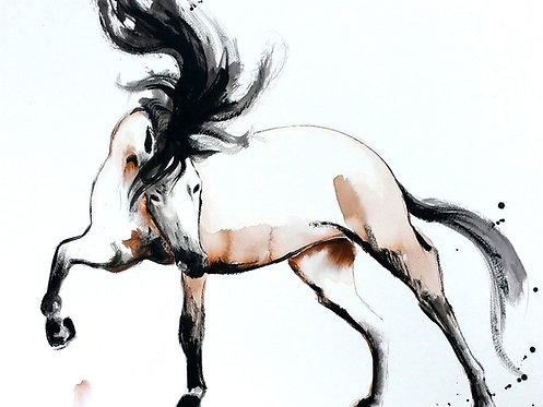 "JULIET Watercolor & Acrylic 24""x18"""
