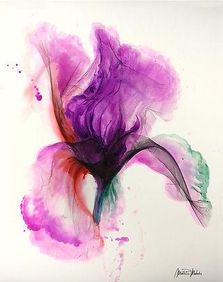 Iris flower,  watercolor, textile designer for commission art