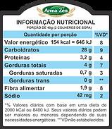 Informação Nutriconal - Granola Sem Glúten Castanhas