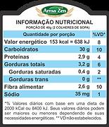 Informação Nutriconal - Granola Sem Glúten Canela
