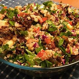 Salada Verde com Quinoa