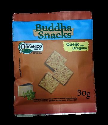 Biscoito Buddha Snacks 30g - Queijo c/ Orégano (3 unidades)