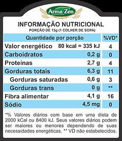 Informação Nutricional - Linhaça Marrom