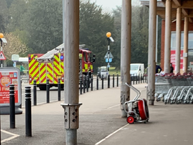 Firefighters Tackle Sainsburys Fire