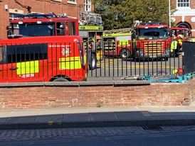 Firefighters Take Part In Melton Training Exercise
