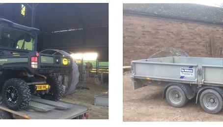 Vehicle and trailer stolen in Rutland