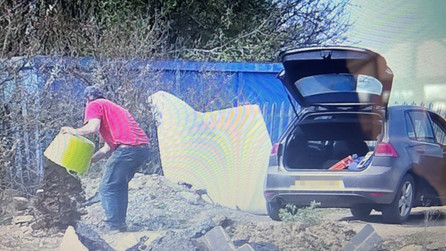 Flytipper fined £400 after CCTV captures them in the act