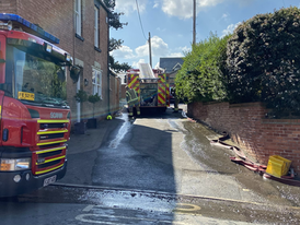 Firefighters Tackle Building Fire
