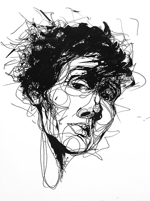 Portrait Of A Stranger Original Drawing