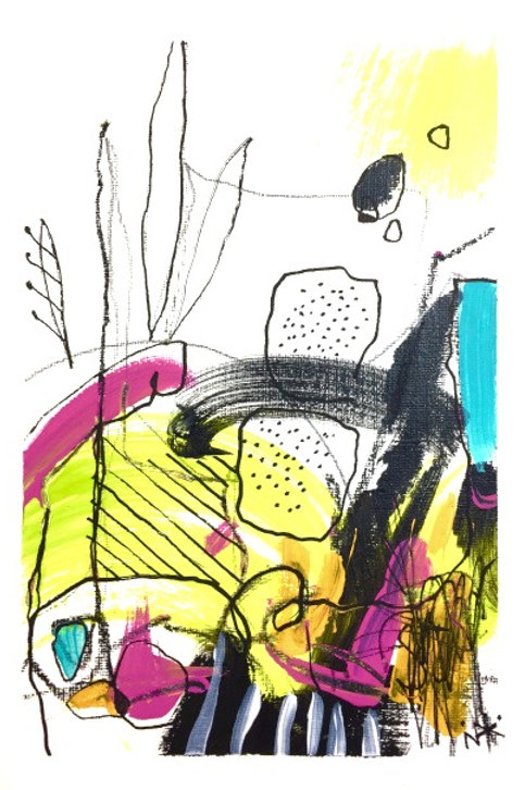 Stylish Abstract Artwork on Paper