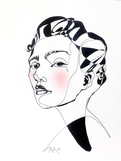 fashion linear illustration