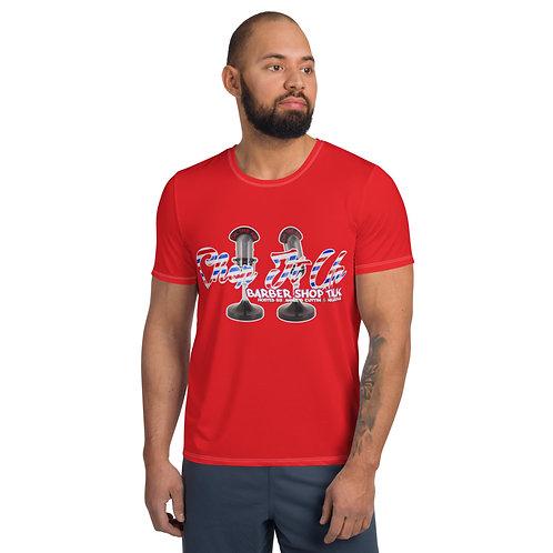 """Chop It Up Barbershop Talk ""Unisex Athletic T-shirt"