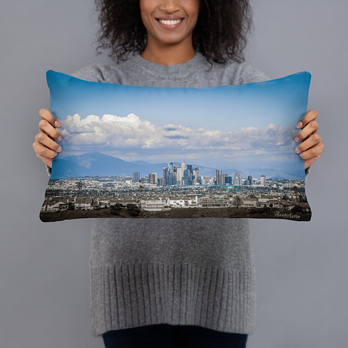 L.A. Skyline Pillow by Milk It Media