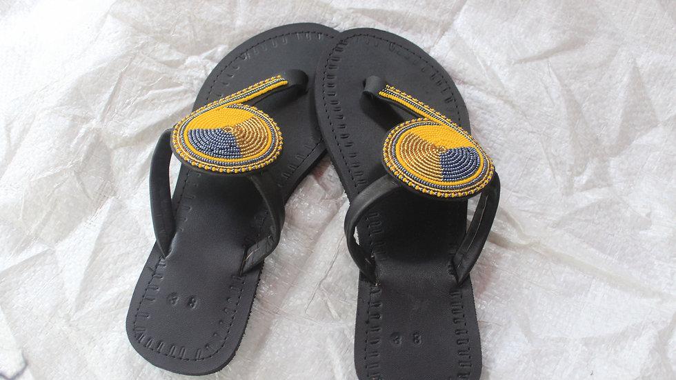 African ladies beaded sandal