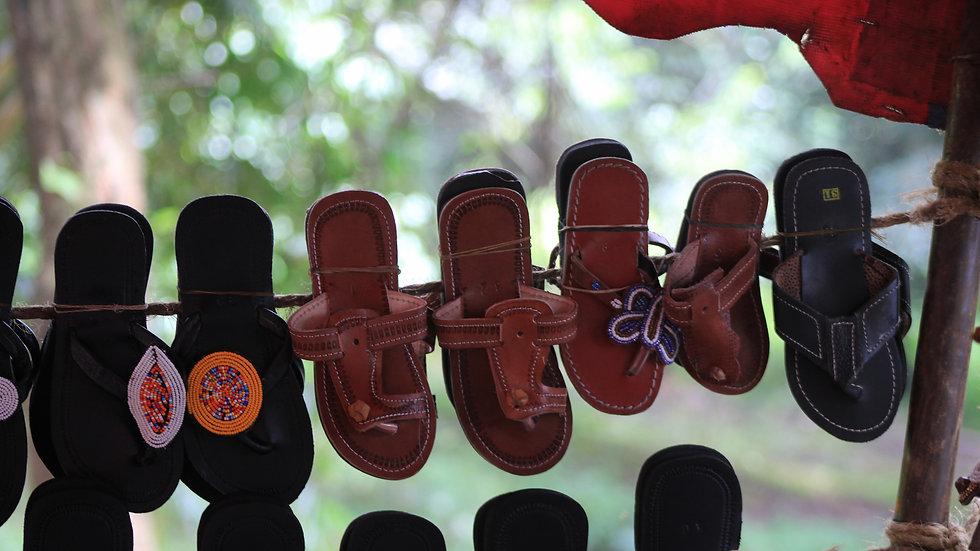African beaded Sandal