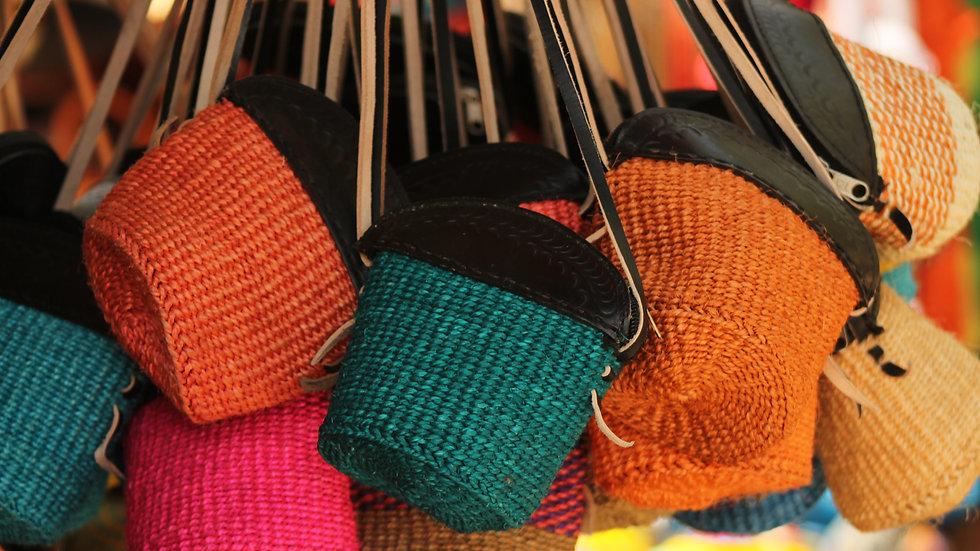 African Handmade sisal bag