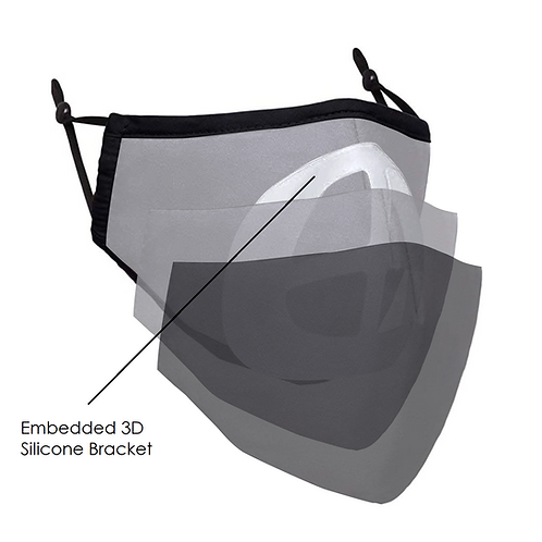 BCOZZY Adjustable 3D Dust Cloth Face Masks with Embedded Bracket