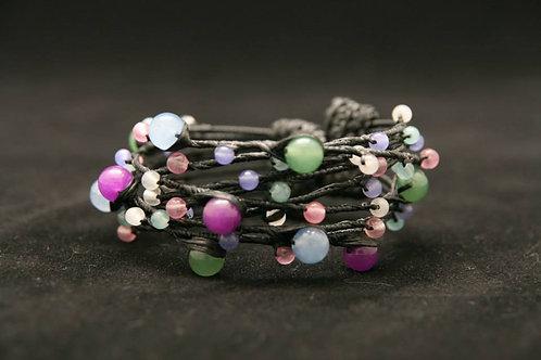 Jade armband multicolor
