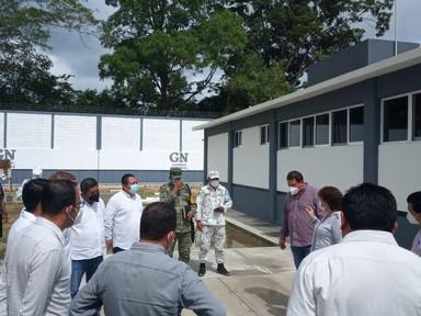 """Secretaria de Gobierno del Estado de Chiapas """"Nuevas instalaciones de la Guardia Nacional""""."""