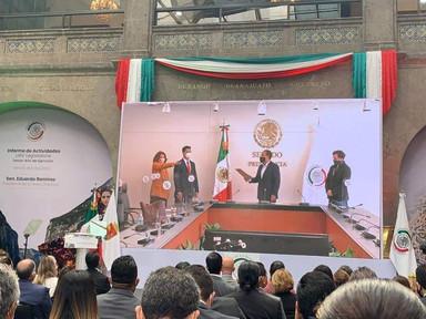 Informe de actividades legislativa  del Presidente del Senado de la República, Óscar Eduardo Ramírez