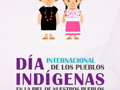 Día internacional de los pueblos indígenas, felicitaciones.