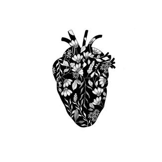 floral heart illustration