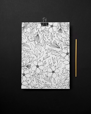 free printable coloring page floral