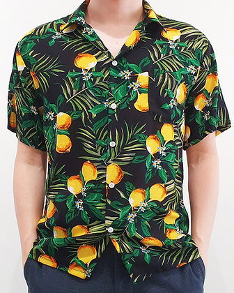 Aloha Shirt - Tropical Lemon