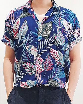 Aloha Shirt -Fantasia Blue