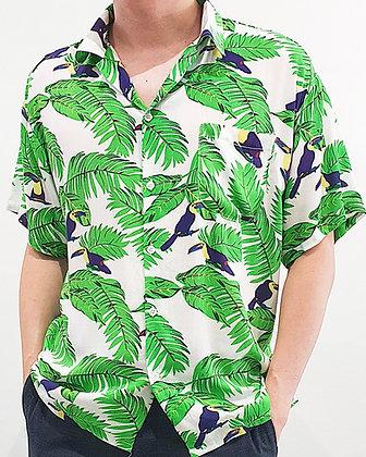 Aloha Shirt - Tropical Hornbill