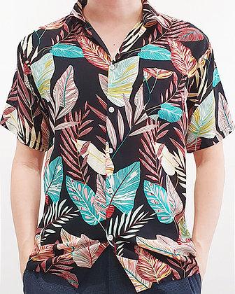 Aloha Shirt - Fantasia Black