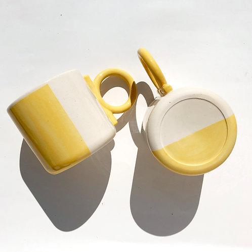 Egg yellow Orbit Mug