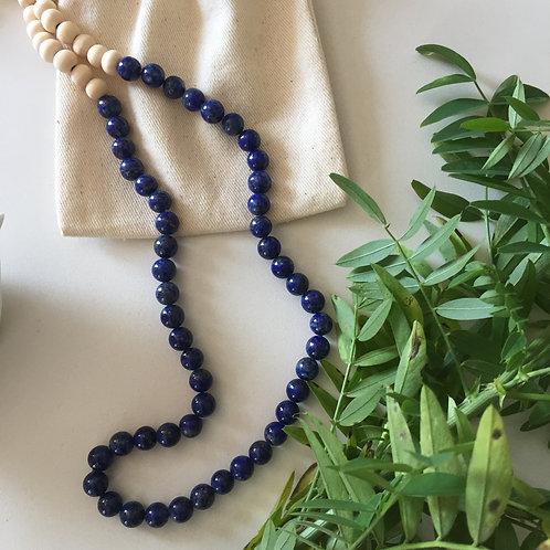 """Le """"léone"""" en Perles de Lapis Lazuli"""