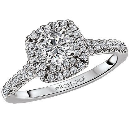 Halo Diamond Ring,  Round Stone