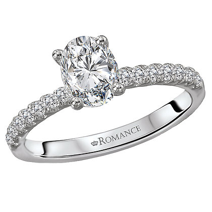 Classic Diamond Ring, Oval Stone