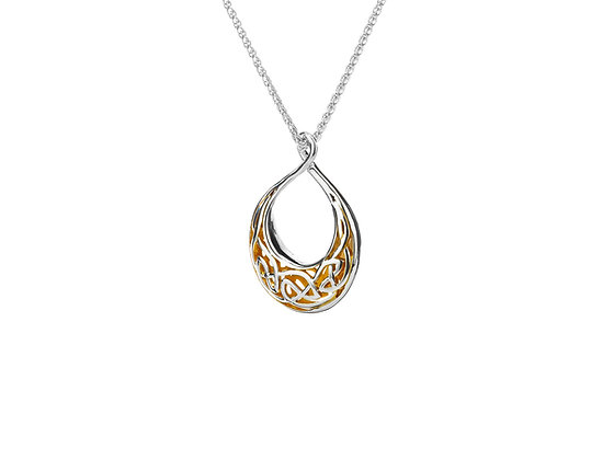 Gilded Window to the Soul Small Teardrop Pendant