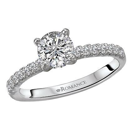 Classic Diamond Ring, Round Stone
