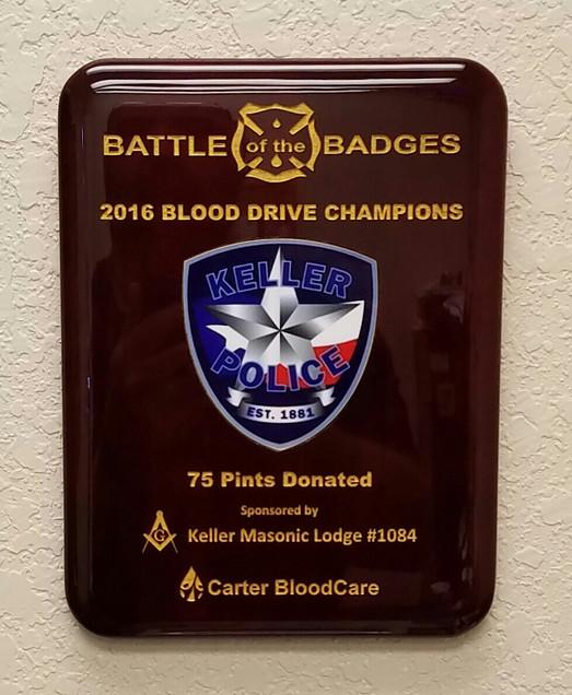 Plaque Keller blood drive.jpg