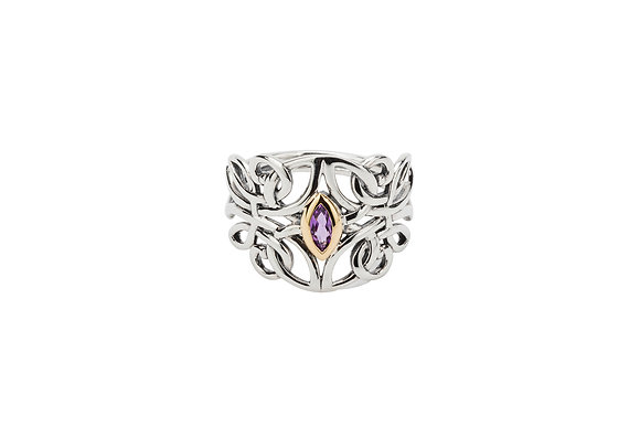 Amethyst Guardian Angel Ring