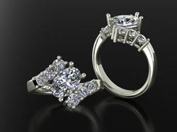 White Gold Oval diamond ring