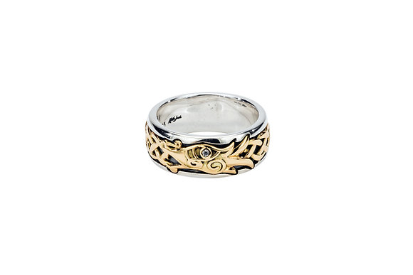 White Sapphire Dragon Ring