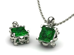 Emerald Pend  Skull and bones