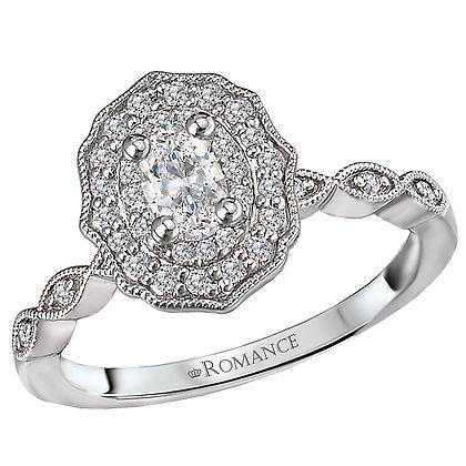 Halo Diamond Cluster Ring