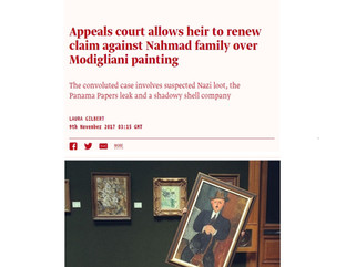 Appeals court allows heir to renew claim against Nahmad family over Modigliani painting