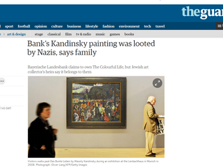 Bank's Kandinsky looted by Nazis