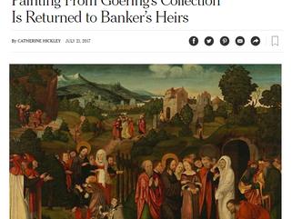 Painting From Goering's Collection Is Returned to Banker's Heirs