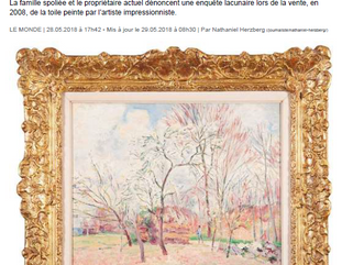 A Sisley robbed by the Nazis embarrassing Christie's