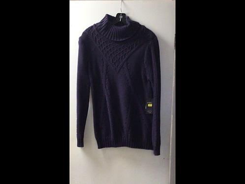 Eggplant DKR Apparel Knit Turtleneck Sweater