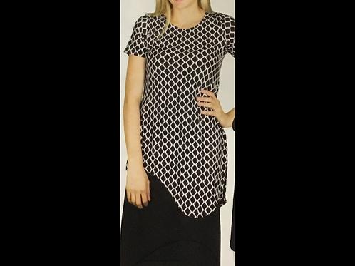 Short Sleeve Asymmetric Tunic