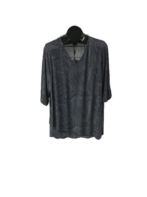 Full Figure 3/4 Sleeve Tunic Top